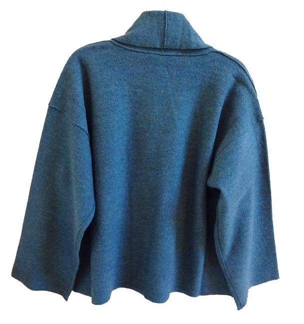 Eileen Fisher Unstructured Optional Pin Closure Front Patch Pockets Shawl Collar Dropped Shoulders Cardigan Image 6