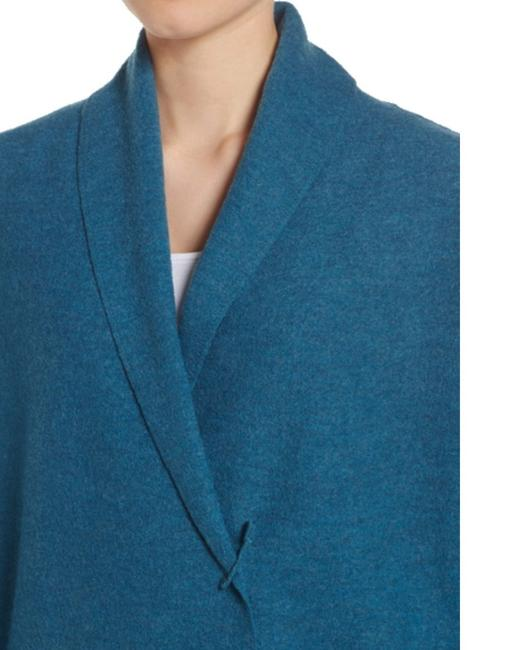 Eileen Fisher Unstructured Optional Pin Closure Front Patch Pockets Shawl Collar Dropped Shoulders Cardigan Image 9
