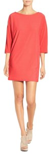 Leith short dress Orange Spice Short Dolman Sleeves Coral Knit Scooped Neck on Tradesy