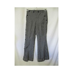 Façonnable Womens Pin Striped Flare Leg Slacks Pants