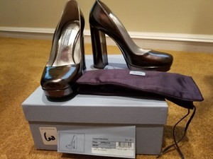 Prada Metallic Pumps
