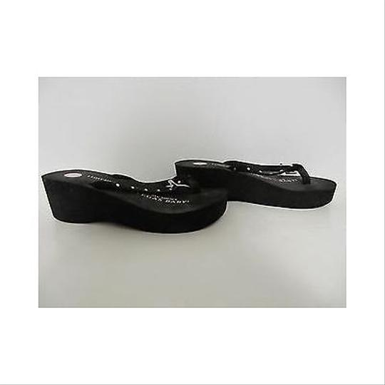 Other Womens Girls Two Doors Down Db Wedge Flip Flops Black Sandals