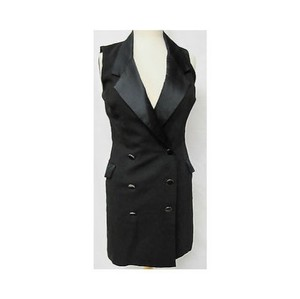 Womens Black Sleeveless Dress