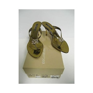 Sergio Rossi Womens Bronze Heels Metallics Sandals