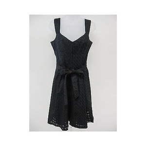 Nanette Lepore short dress Black Womens Eyelet Sleeveless on Tradesy
