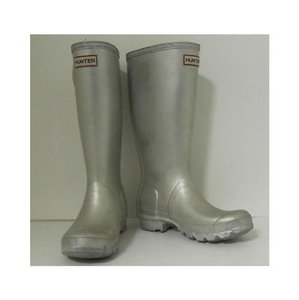 Hunter Womens With Buckle 4m5f Silver Boots