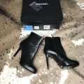 Chanel Ankle Leather Black Boots