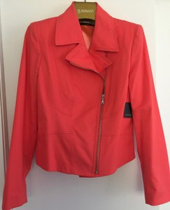 Tahari Moto Offset Zipper New W/Tags Color Motorcycle Jacket