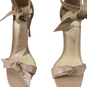 Alexandre Birman Leather Padded Ankle Strap Nude Sandals