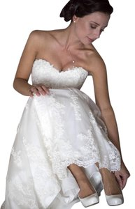 Maggie Sottero Ivory Lace Emma Gown Traditional Wedding Dress Size 4 (S)