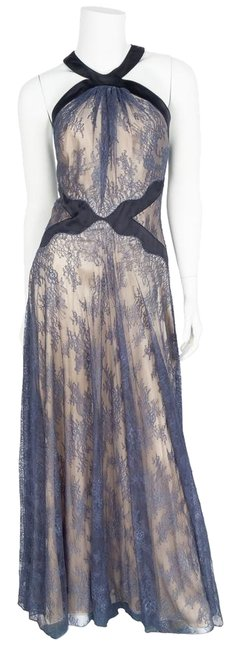 Item - Teal Lace Evening Gown Long Formal Dress Size 8 (M)