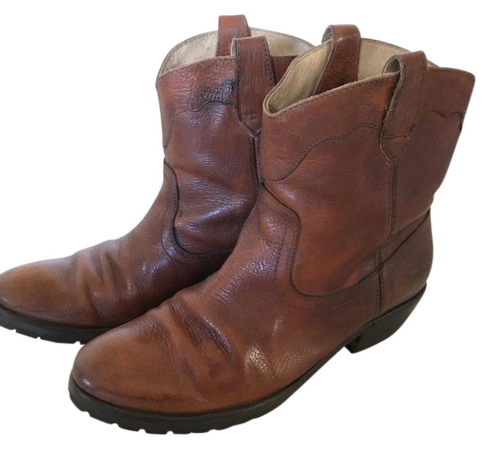 c168e913287 Frye Carson Lug Short Leather Western Brown Boots Image 0 ...