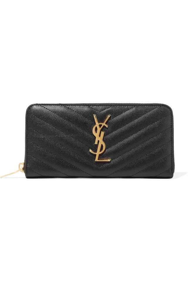 7230a18094 Saint Laurent - Monogram Black Textured Leather Clutch - Tradesy