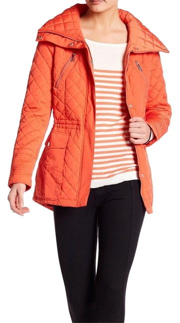 Item - Orange W New W/Tags Quilted Anorak Coat Size 2 (XS)