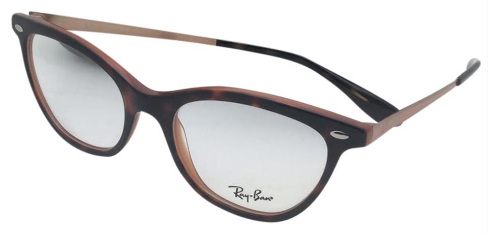 05ddd825df6 Ray-Ban New Rx-able Rb 5360 5713 52-18 145 Tortoise On Brown Cat Eye ...
