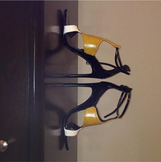 Zara Open Toe Sandals black and yellow Sandals Image 1
