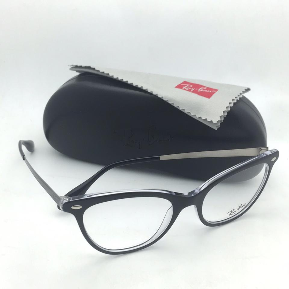 0405e1b0709d3 Ray-Ban New Rx-able Rb 5360 2034 52-18 145 Black On Clear Cat Eye Sunglasses  - Tradesy
