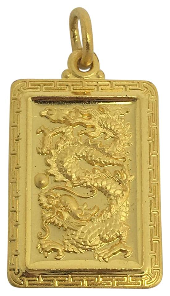 out cut saint christopher product yellow rectangular pendant gold