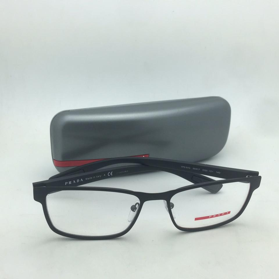 a3f3d8739ac Prada New Vps 50g Dg0-1o1 55-17 140 Rubberized Black   Red Frame Sunglasses  - Tradesy