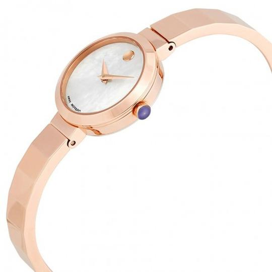 Movado Novella White MOP Dial Rose Gold Ladies Bangle Watch Image 1