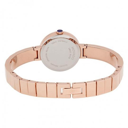 Movado Novella White MOP Dial Rose Gold Ladies Bangle Watch Image 2