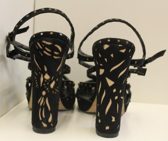 Marchesa Heel Ankle Strap Studded black suede and studs Sandals Image 2