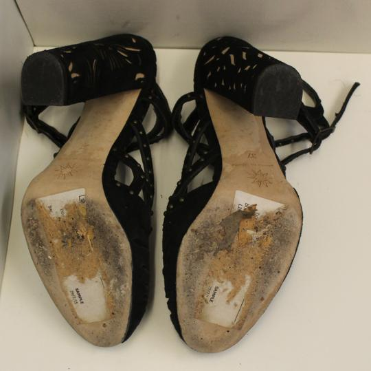 Marchesa Heel Ankle Strap Studded black suede and studs Sandals Image 3