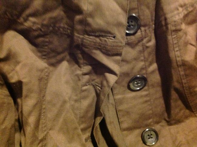 Banana Republic 3/4 Cuffed Sleeve Five Buttons Slight Cropped In Color Brown Jacket Image 1