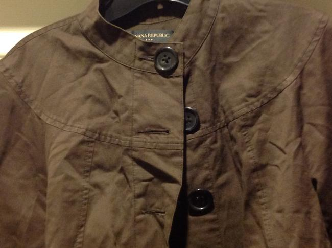 Banana Republic 3/4 Cuffed Sleeve Five Buttons Slight Cropped In Color Brown Jacket Image 11
