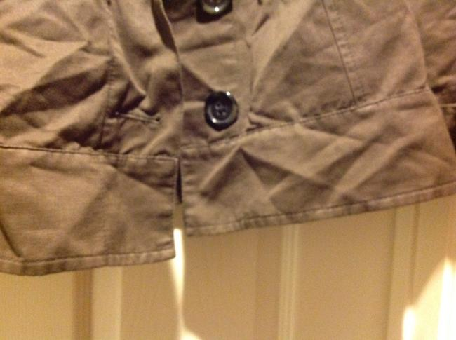 Banana Republic 3/4 Cuffed Sleeve Five Buttons Slight Cropped In Color Brown Jacket Image 6