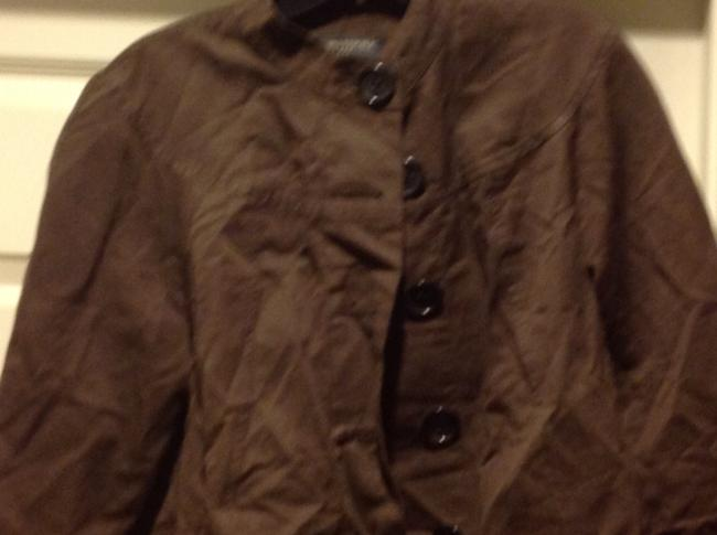 Banana Republic 3/4 Cuffed Sleeve Five Buttons Slight Cropped In Color Brown Jacket Image 8