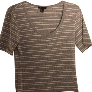 Carole Little T Shirt Grey/ White stripes
