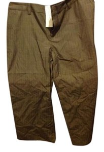 Banana Republic Rand- Capit Pant Tags Attached Capris Brown, with Bieber fine striping.