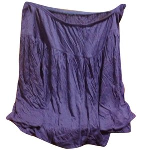The Limited Mini In Style Color Balloon Tags Attached Mini Skirt Periwinkle blue