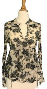 By Malene Birger Top Ivory and black