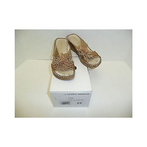 Other Andre Rumba Tan Textile Sandals Heels Beiges Platforms