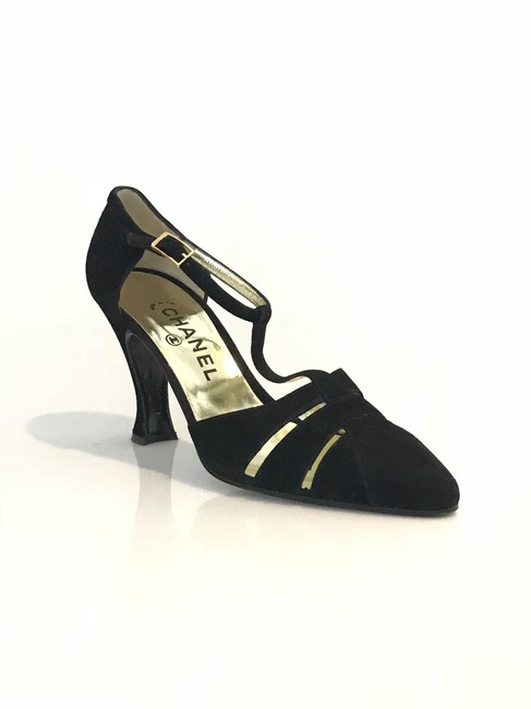 Item - Black Suede Mary Jane Formal Shoes Size EU 38 (Approx. US 8) Regular (M, B)