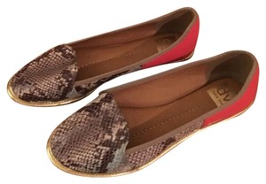 Dolce Vita Brown, Red, Gold Flats