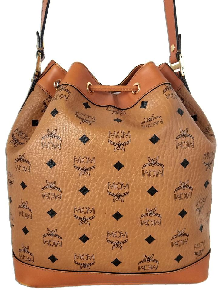cab9d24d3 MCM Bucket Bag Mmcm Heritage Drawstring Petite Cognac Canvas and Leather  Tote - Tradesy