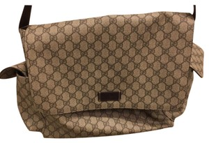 Gucci brown, tan Diaper Bag