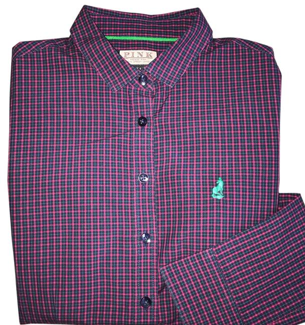 Item - Plaid With Logo Button-down Top Size 2 (XS)