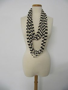 Infinity Brown Beige Striped Long Fashion Scarf