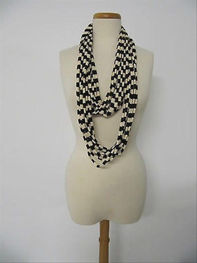 Other Infinity Brown Beige Striped Long Fashion Scarf