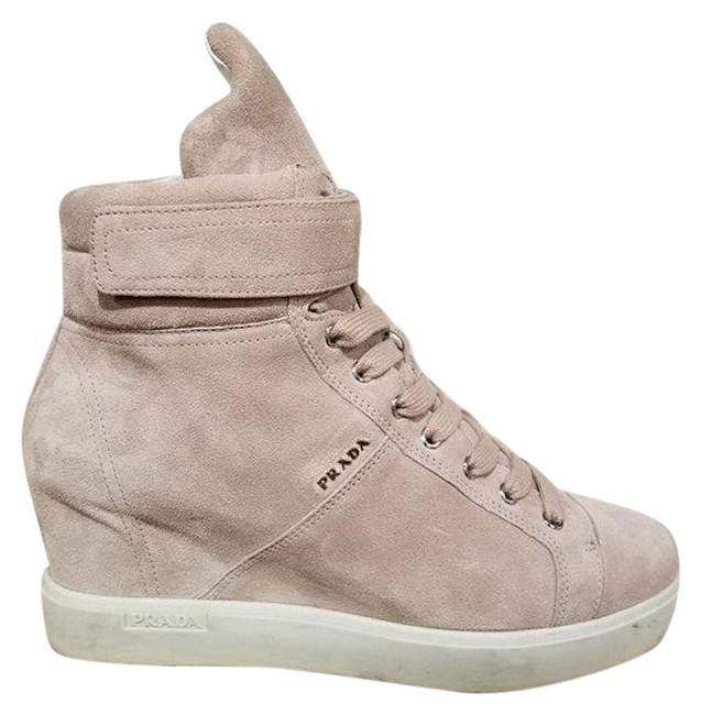 Item - Beige Pomice Suede Platform High Top Lace Wedges Sneakers Size EU 40 (Approx. US 10) Regular (M, B)