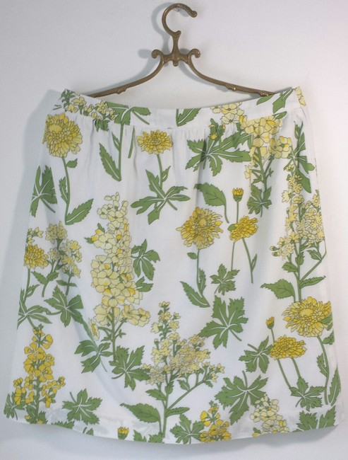 Anthropologie Size 8 Floral Summer Skirt Yellow Green White