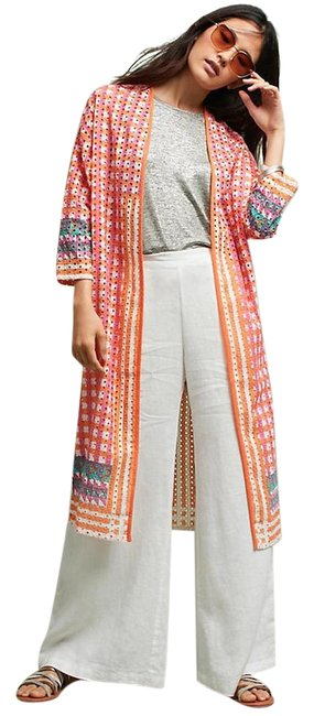 Item - Multicolor Broderie Anglaise Longline S/M Jacket Size 8 (M)