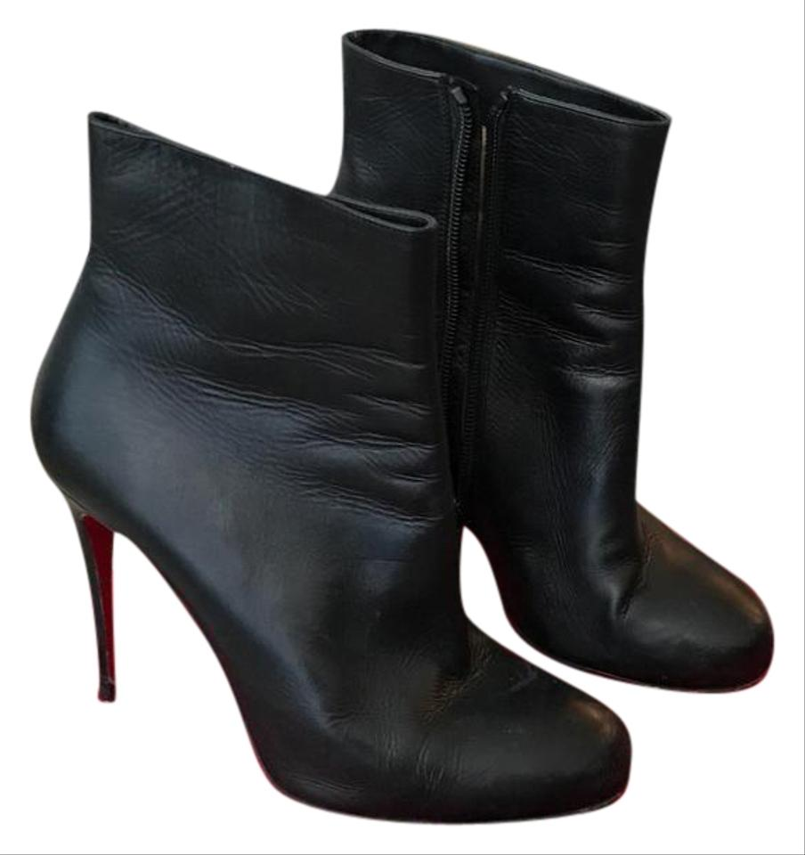49733100777 Christian Louboutin Black Fifi 100 Shiny Calf Boots/Booties Size EU 38.5  (Approx. US 8.5) Regular (M, B) 30% off retail