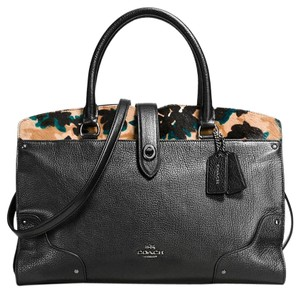 Coach Mercer Stud 59497 Satchel in Black Multi