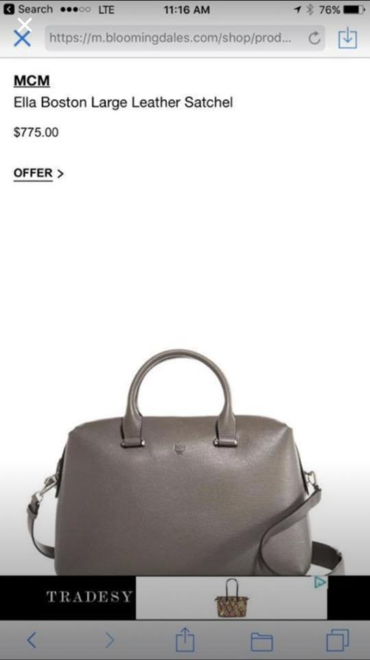 5a9daefa7974d3 MCM Ella Boston Large Bungee Cord Imported Leather Satchel - Tradesy