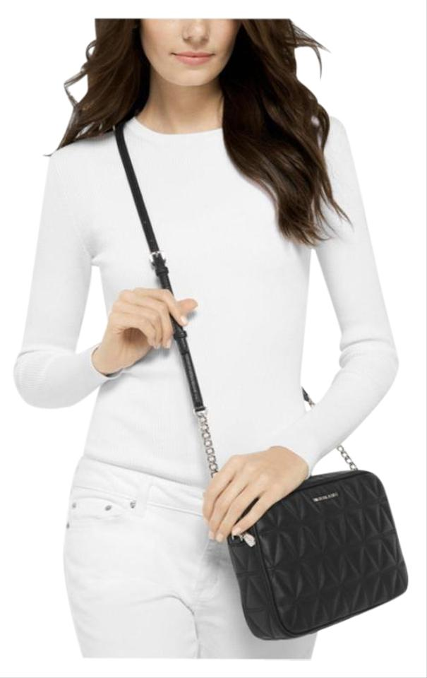 f183adade967 MICHAEL Michael Kors Quilted With Silver Slit Pocket Adjustable Strap Mk Jet  Set Cross Body Bag ...